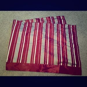 Satin Striped Kitchen Valence Curtain